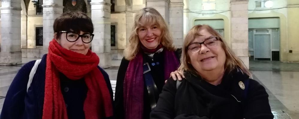 Fab Llanos, Isabel Pérez i Mari Pau Munuera (Casal Dones VNG)