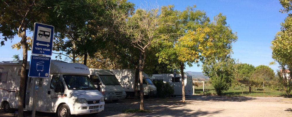 L'àrea d'autocaravanes de Vilafranca del Penedès