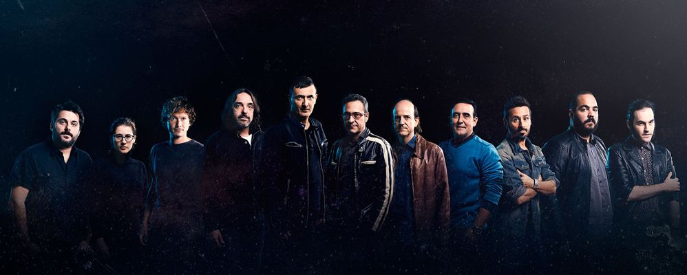 Els Lax'n'Busto amb els set cantants de 'Polièdric'