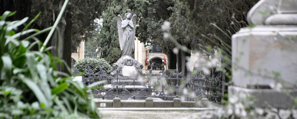 La tomba d'Eugeni d'Ors al cementiri de Vilafranca del Penedès
