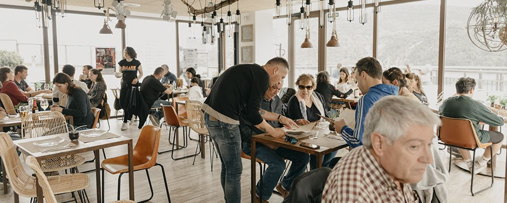 El menjador és un dels espais únics de Lo Quiosc