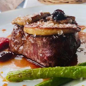 Filet de vedella amb foie d'ànec - Hotel Restaurant Diego