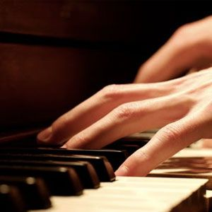 Piano, Pianista, Mans, Teclat