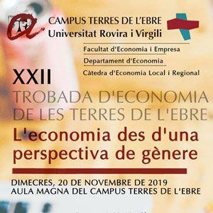 XXII Trobada d'Economia 'L'economia des d'una perspectiva de gènere' - URV 2019