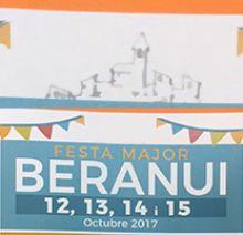 Fragment del cartell de la Festa Major de Beranui