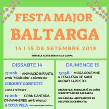 Festa Major - Baltarga 2019
