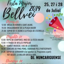 Festa Major de Bellveí (Torrefeta i Florejacs), 2019