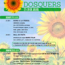 Festes Majors Dosquers, 2019