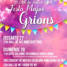 Festa major de Grions (sant feliu de buixalleu), 2019